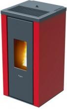 Pegaso 7019034 Stufa a Pellet 7 kW Ventilata Volume 170 m3 colore Rosso  Vera
