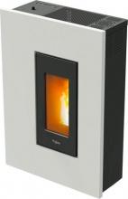 Pegaso MADISON Stufa a Pellet 4.9 kW Ventilata Capacità 10 Kg 120 m³ Bianco