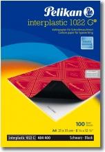 Pelikan 401026 Confezione 10 Fogli Cartacarbone Interplastic Nero