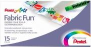 Pentel PTS-15U2 Fabric Fun Multicolore 15 pezzi