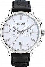 Philip Watch Orologio Uomo Cronografo Cassa Acciaio Cinturino Pelle R8271698007