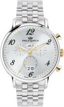 Philip Watch R8273695002 Orologio Uomo Cronografo Cassa Acciaio Silver Oro
