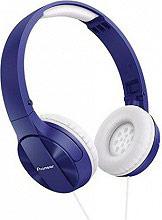 Pioneer Cuffie stereo archetto piegehvola Mp3 col Blu  Bianco SE-MJ503-L