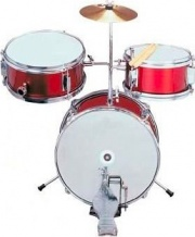 Planet DBJ30-62 RED Batteria Acustica per Bambini Baby Drum Set Rosso DBJ30-62 Set Met.Red