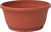 PLASTECNIC Vaso plastica fioriera 30x13h cm col Terracotta 7100483085 Unica