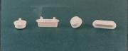 Plastimetal BLGHU1610 Parac. Tondi per Sedili Wc mm 23,5  Blister  6