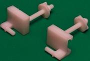 Plastimetal BLGHU1815 Fissaggio Universale In Plastica per W.C. Confezioni 20