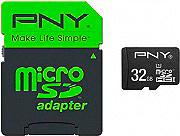 Pny Scheda di memoria Micro SD HC 32 Gb + Adattatore SDU32GPER50-EF Performance