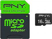 Pny Scheda di Memoria Micro SD HC 16 Gb Classe 10 con Adattore - SDU16GPER50-EF