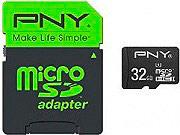 Pny Scheda Micro SD 32 GB MicroSDHC UHS-I 80 MBs Classe 10 SDU32G10HIGPER80EF