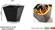Polo Plast L420-11 Minidessert confezione 50 pezzi cc 58 cm 5x5x4.5h Cupido Nero