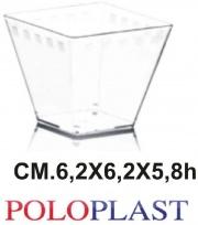 Polo Plast L426 Minidessert confezione 50 pezzi cc 120 cm 6.2x6.2x5.8h Era