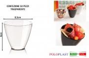 Polo Plast L428 Mini Dessert Apollo confezione 50 pezzi cm 6.5x6h Trasparente