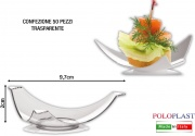 Polo Plast L430 Mini Dessert Felix confezione 50 pezzi cm 9.7x2h Trasparente