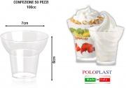 Polo Plast POL041600 Bicchiere Go - Yo cc 100 Confezione 50 Pezzi Trasparente