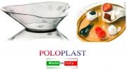 Polo Plast POL409 Mini Dessert Trilogy cm 11x10x1.6h Confezione 50 Pezzi Trasparente