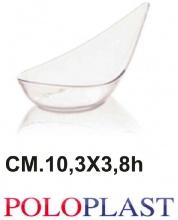 Polo Plast POL438 Mini Dessert Mozart Confezione 50 Pezzi cm 10.3x3.8h Trasparente