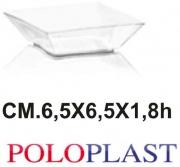 Polo Plast POL450 Mini Dessert Vanity Small Confezione 50 Pezzi cc 70 Trasparente