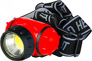 Polypool PP3156 Lampada frontale a LED COB 3W 180lm Torcia frontale a Batterie