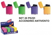 Polyflame LY123666 Accendino Antivento Set 20 pezzi A.40804059 Colori Assortiti