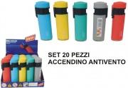 Polyflame LY211318 Accendino Antivento Set 20 pezzi A.40804294 Colori Assortiti