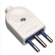 Polypool 457 Spina elettrica 10 A 2P+T 250 V bianca