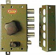 Potent Serratura Porta Legno da Applicare Entrata 45 mm Dx + Aste + 3 Ch. 1730D