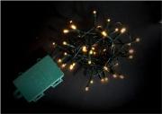 PreQu D1532 Filo Luci Led Bianco caldo 48 luci Batteria esterno