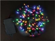 PreQu D1534 Filo Luci Led Multicolore 100 luci Batteria esterno