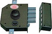 Prefer Serratura Porta Legno da Applicare Cilindro a Pompa Pomolo 60 mm SEG133