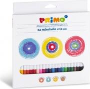 Primo 523MINAB24 Confezione 24 Pastelli Minabella 3 8 mm
