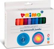 Primo 604JUMBO24 Confezione 24 Pennarelli Jumbo P.Conica Ass