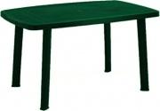 ProGarden 47990 Tavolo da Giardino Resina ovale 137x85 cm Foro ombrellone Verde