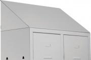 Pro Metal OS199T2P.1 Tetto Inclinato per spogliatoio a 2 posti 68.5 x 34 cm