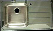 Profil Export Lavello Cucina Incasso 2 Vasche Gocciolatoio Sx 115cm VETRO115