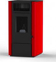 Punto Fuoco DORA Stufa a Pellet 8 kW Ventilata Serbatoio 13.5 Kg 200 m3 Rosso