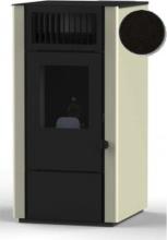 Punto Fuoco DORA Stufa a Pellet 8 kW Ventilata Serbatoio 13.5 Kg 200 m3 Nero