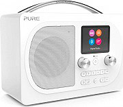 PURE EVOKE H4WH Radio Digitale DAB  DAB+  FM Portatile Bluetooth Display Bianco EVOKE H4