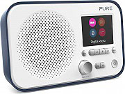 PURE 151062 Radio Digitale DAB  DAB+  FM Portatile Bluetooth Display Blu Elan BT3