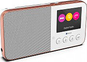 PURE MOVE T4WH Radio Digitale DAB  DAB+  FM Portatile Bluetooth Display Bianco MOVE T4