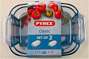 Pyrex 912S9697043 Set 2 lasagnere 34x22 cm 38x25 cm 3.6 L Vetro borosilicato