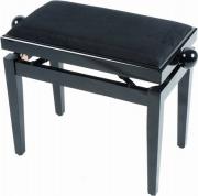 Quiklok PB010BK Sgabello Pianoforte antico Panchetta classica in Legno Nero