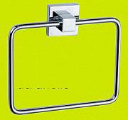 R.A. 2860 Porta asciugamani bagno da Parete in Metallo cromato ad Anello  Serie Geo