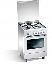REGAL BY TECNOGAS Cucina a Gas 4 Fuochi Forno a Gas Grill 60x60 cm - RC662WSN
