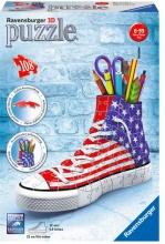 Ravensburger 12549 Puzzle 3D Portapenne 108 pz Sneaker Flag 108 pz 3D