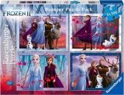 Ravensburger 12885 Puzzle Frozen 2- 4X100 Bumper Pack