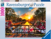 Ravensburger 19606 Puzzle Biciclette Ad Amsterdam- 1000 Pz