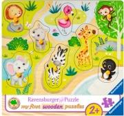 Ravensburger 3687 Andiamo Allo Zoo Puzzle con formine 8 pezzi