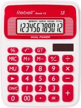 Rebell 12RD Calcolatrice da Scrivania 12 cifre Bianco Rosso  Desk 12