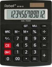 Rebell 8118-12 Calcolatrice da Scrivania 12 cifre Nero